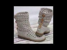 Crochet Slipper Boots, Crochet Slippers, Knit Crochet, Crochet Shoes Pattern, Shoe Pattern, Crochet Patterns, Make Your Own Shoes, Macrame Mirror, Macrame Purse