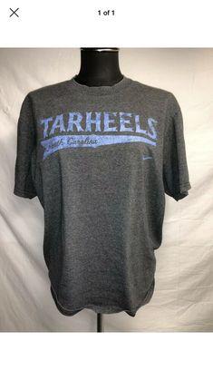 promo code b6565 cc3bf Mens Nike North Carolina UNC Tarheels Gray Blue T Shirt Tee Medium M   fashion