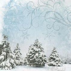 Winter Trees - 12x12 Scrapbooking Paper