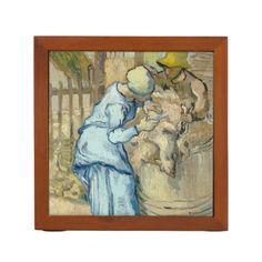 Raising of Lazarus after Rembrandt by Van Gogh Desk Organizer