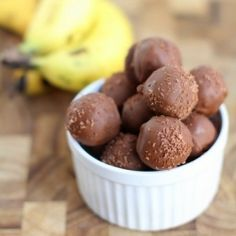 Banana Bread Truffles - to make these addictive sweet bites, all you need is a loaf of banana bread, cream cheese, and chocolate.