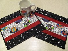 Quilted Mug Rugs Cute Coffee Theme Coffee by HiddenLakeHomespuns, $14.50