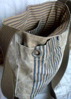vintage mail bag tote
