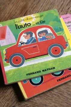 l'auto ... et Cie   Fernand Nathan / 1978 Collection Les petits albums rouges Boardbook 16×16cm 6P