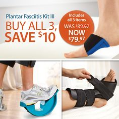 Try our podiatrist-recommended system that helps relieve the pain of plantar fasciitis, 24 hours a day. Simple exercises, stretches and support can work together to offer relief. #plantarfasciitis #heelpain