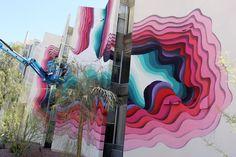 Impressive New 3D-Mural by German Streetartist 1010 in Las Vegas // California » Design You Trust. Design, Culture & Society.