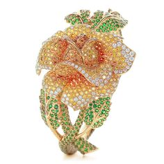 Rose bracelet in 18k gold with tsavorites, spessartites and yellow diamonds. | Tiffany & Co.