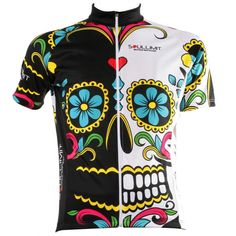 Maglia da ciclismo estiva con grafica Mexican Skull by Soullimit-must get this jersey-love! Bike Wear, Cycling Wear, Cycling Jerseys, Cycling Bikes, Cycling Outfit, Cycling Clothing, Mtb Bike, Road Bikes, Bike Kit