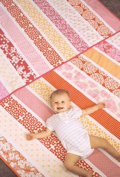 """Each quilt is made from twelve 4"""" strips with 1"""" white in between.  Finished quilt measures 41 x 56.5 inches"""