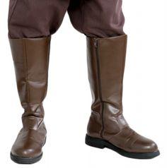 STAR WARS COSTUMES: : Star Wars Jedi Boots - Brown - Fantastic Quality - Best Value $64.99 Star Wars Halloween Costumes, Game Costumes, Adult Costumes, Obi Wan Kenobi Costume, Star Wars Fancy Dress, Jedi Robe, Jedi Costume, Star Wars Celebration, Comic Con