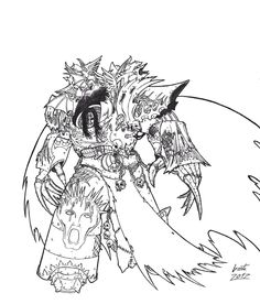claws greyall konrad_curze lineart night_lords primarch