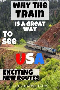 US train travel is more popular than ever. Amtrak has over 30 long distance train trips that highlight the countries unique places and sites. Visiting the USA is easy and affordable by train. Whether you want to get off the beaten path or discover Amer Ways To Travel, Travel Usa, Places To Travel, Travel Tips, Places To Go, Travel Ideas, Travel Goals, Travel Europe, Europe Train