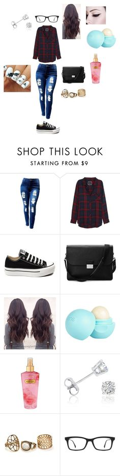 """""""Red Flannel Set"""" by abbyvg-99 on Polyvore featuring Rails, Converse, Aspinal of London, River Island, Victoria's Secret, Amanda Rose Collection and Ray-Ban"""