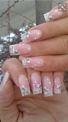 girlshue - 15 Amazing Acrylic Nail Art Designs & Ideas For Girls 2013 Pink Nail Art, Acrylic Nail Art, Pink Nails, Clear Acrylic, Nail Art Designs, Acrylic Nail Designs, Fabulous Nails, Gorgeous Nails, Fancy Nails