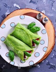 Фото быстрых шпинатных блинов
