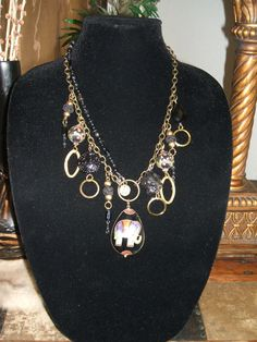 Upcycled Black Onyx Unusual Vintage Modern by UniqueDesignsbyCK, $29.95