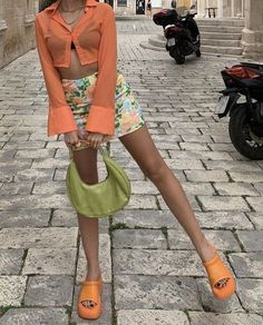 Spring Summer Fashion, Spring Outfits, Bright Summer Outfits, Colourful Outfits, Colorful Fashion, Mode Outfits, Fashion Outfits, Girl Outfits, Indie