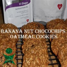 Banana Nut ChocoChips Oatmeal Cookies visit my Facebook page for the full recipe http://www.facebook.com/GiveMe90  Transform your Life with the ViSalus Body by Vi™ 90–Day Challenge Want to lose weight, tone up, or just get healthy? Join the Body by Vi™ 90–Day Challenge, and you will not only help yourself, but others too. www.giveme90.myvi.net