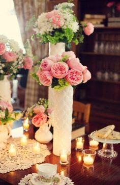 centerpieces, pink, poeny, ranunculus, romantic , fleur de lis, floral print, vintage , flowers, Tampa , Florida