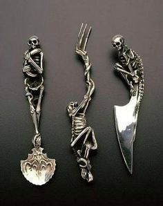 gothic cutlery #gothic #wedding #bridal