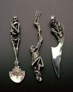gothic cutlery
