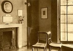 Keats's sitting room, and the Brawne family's sitting room at Wentworth Place…