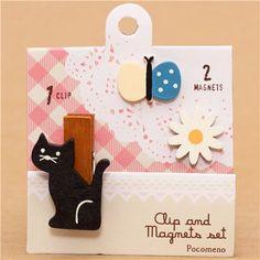 Decole cat clip and magnet set