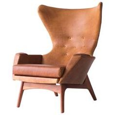 Adrian Pearsall Large Wing Chair for Craft Associates Inc. Model 2231-C