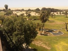Golf course in the desert, Swakopmund, Namibia