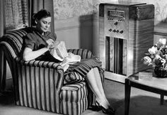 Old Time Radio.   I listen to it every night before bed... It's such a comfort and it's great to imagine the scenes :)