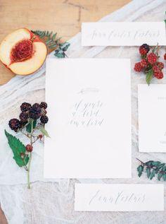 minimalist wedding invitations - photo by Rebecca Hollis Photography ruffledblog.com/...