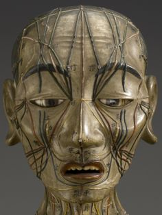 Wooden acupuncture model, Asia, 1601-1700