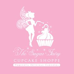 cupcake logo design for the sugar fairy cupcake shoppe by thelogoboutique.com