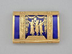 Gold and Cobalt Enamel Snuff Box