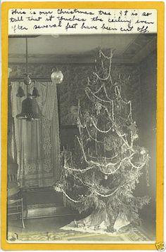 Real Photo Postcard RPPC - Decorated Christmas Tree