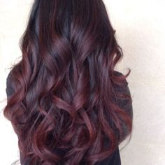 ombre burgundy black purple undertones - Google Search