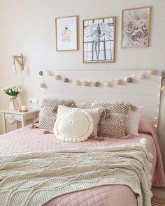 Home Bedroom, Girls Bedroom, Cheap Bedroom Ideas, Bedroom Decor Pictures, Pink Bedding, Aesthetic Room Decor, Diy Room Decor, Home Decor, New Room