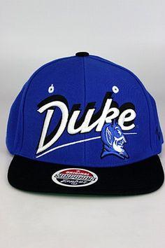 dcb7bf66de9 Zephyr Shadow Script Duke University Blue Devils Snapback Hat Blue - Black University  Blue