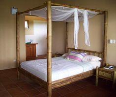beautiful bamboo canopy bed