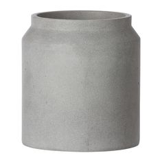 Create a contemporary setting in both the home and exterior area with this Concrete Pot from Ferm Living. Perfect for adding a decorative touch wherever it is placed, the smooth concrete finish takes