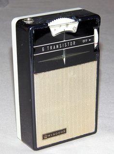 Vintage Windsor 6-Transistor AM Radio, Model 15092, Made in the Ryukus (Japan), Reverse Paint, Circa 1960s.