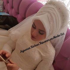 """146 Beğenme, 1 Yorum - Instagram'da Ankara Gelinlik💓Gelinbaşı (@aysenazturbantasarim): """"Masallah 🎀🎀🎀♥♥♥👰👰👰 #ankaraturbantasarim #ankaragelinbaşı #türbanankara #ankara #hijab…"""""""