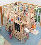 An indoor play gym would have been great when Cooper was younger.  Now it's just fun to look at.