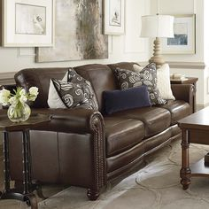 Hand Rubbed Sofa In Brown Leather Bett Furniture What