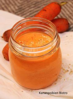 Meillä on viime päivinä taas rempattu ja rymsteerattu huoneita uuteen uskoon ja järjestykseen. Vanhassa talossa tämä puuha ei lopu varmaan koskaan, mutta onhan se myös virkistävää. Samalla tulee siivottua kaikkea turhaa pois. Huseerauksen lomassa piristää vitamiinipitoinen porkkanasmoothie, jossa on mukana myös muun muassa mangoa, tuorepuristettua appelsiinimehua ja inkivääriä! Ihanaa viikon alkua! Pirteä porkkanasmoothie 1 dl … Jatka lukemista Pirteä porkkanasmoothie → Vegan Dessert Recipes, Healthy Recipes, Smoothie Recipes, Smoothies, Creme Brulee, Fodmap, Superfoods, Food To Make, Food And Drink