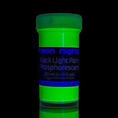 neon nights 8 x Peinture Phosphorescente Autoluminescente Couleur Fluo Luisant Dans Le Noir