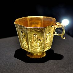 golden spanish cup from the wreck of the atocha