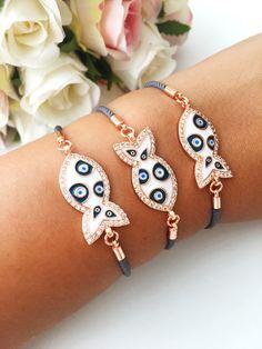 Evil eye bracelet, fish charm bracelet, evil eye string bracelet, evil eye jewelry, fish jewelry sup Evil Eye Jewelry, Evil Eye Bracelet, Eye Necklace, Meaningful Tattoos For Women, Turkish Jewelry, Enamel Jewelry, Gold Jewelry, Jewelry Supplies, Kids Jewelry