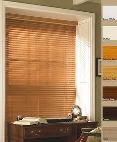 Faux Wood Venetian Blinds With 50mm Slats - PVC Bathroom Blinds In 7 Colours   eBay #fauxwood #bathroomblinds