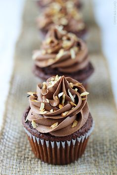 Perfectly moist chocolate coconut cupcakes with fluffy chocolate coconut buttercream frosting!